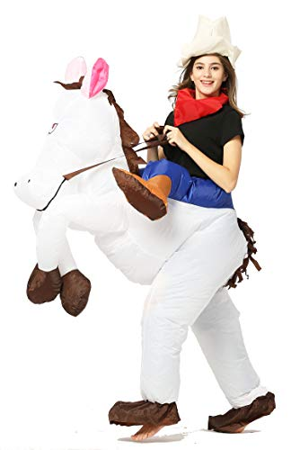 GOPRIME Riding Inflatable Costumes (Horse White) -