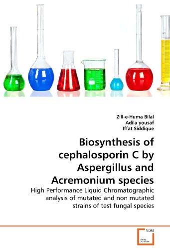 Biosynthesis of cephalosporin C by Aspergillus and Acremonium species: High Performance Liquid Chromatographic analysis of mutated and non mutated strains of test fungal species (Test Fungal)