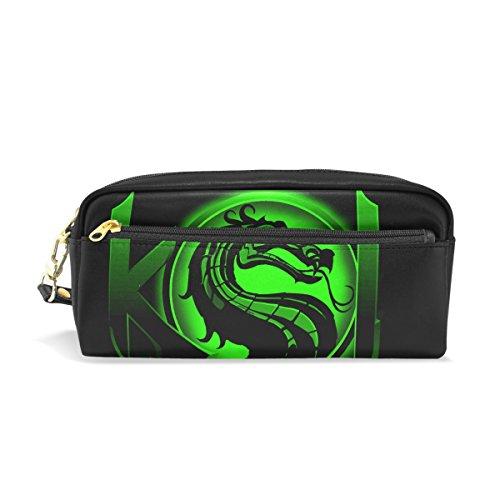 Sub Zero Mortal Kombat X Costume (Dragon 1 Pencil Case Portable Pen Organizer Bag PU Leather Large Capacity)