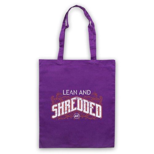 AF Clothing Slogan My d'emballage Shredded amp; Sac Bodybuilding Workout And Icon Lean Violet Art qBfCnU