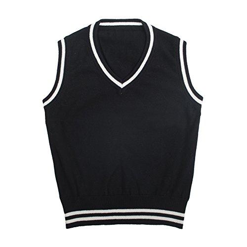 Black And White Argyle Sweater - 8