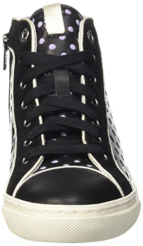 Geox Womens D New Club 25 Fashion Sneaker Nero