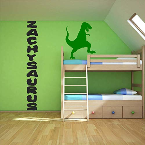 Vertical Horizontal or Diagonal Baby Name Wall Decal Sticker - Big Thick Dinosaurus Stone Age Cave Dino Writing Peel and Stick Nursery Decor - Ships the same day of the order! ()