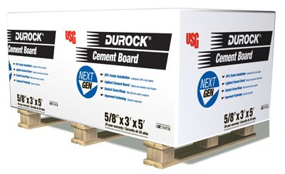 US Gypsum 172967 0.63 x 3 x 5 in. Cement Board44; Pack of 40
