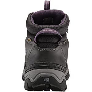 KEEN Women's Gypsum II Mid WP-W Hiking Boot, Earl Grey/Purple Plumeria, 8.5 M US
