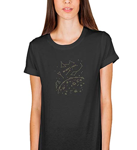 No Men's Land Craters Space Planet_005508 T-Shirt Birthday for Her LG Women Black
