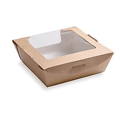 Small Cafe Vision Collection Bio Lunch Box with Two Windows 28 ounces 200 count box