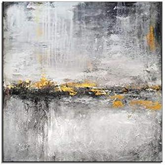HIMAmonkey 100% Pintura Al óLeo Pintado A Mano Cuadros Abstractos Modernos Arte de Pared sobre Lienzo Estirada y Enmarcado decoración Listo para Colgar,32