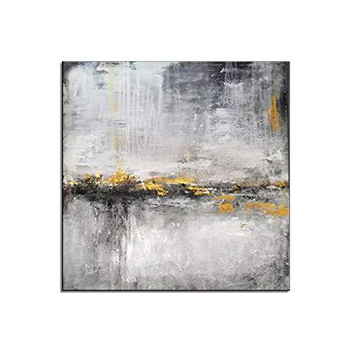 HIMAmonkey 100% Tableau Peinture Huile sur Toile Moderne Art Decoration Mural Peinture Tableau Acrylique Peint à la Main avec Cadre Bois,32