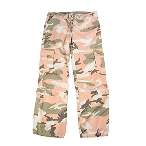 Women's Vintage Paratrooper Fatigues Military Cargo 6 Pocket Tactical Army Pants