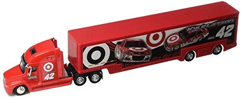 NASCAR Authentics 13400 2017 Edition Kyle Larson Target Hauler Trailer Tractor Semi Rig Transporter Truck Diecast 1/64 Scale Red (Diecast Semi Truck)