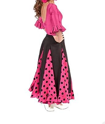 ANUKA Conjunto de niña para Flamenco o sevillanas, Maillot y Falda ...
