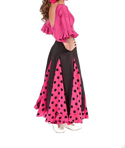 Conjunto de niña para Flamenco o sevillanas, Maillot y Falda.NO Incluye Pendientes ni
