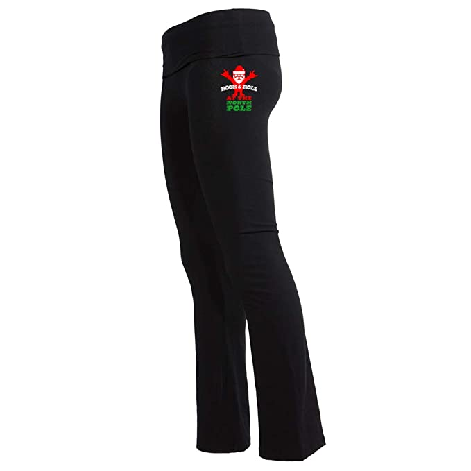 Rock & Roll North Pole Womens Yoga Pant at Amazon Womens ...