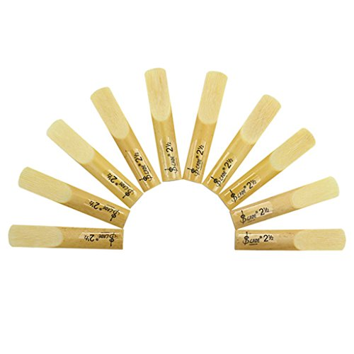 10 Pcs Bb Alto Saxophone Reeds 2.5 Premium Cane for Musical Instrument Accessories (Musical Instrument Accessories)
