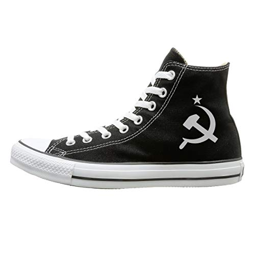 - Canvas Shoes Russian CCCP Hammer Fashion High-Top Lace Ups Canvas Sneakers For Men's Women's