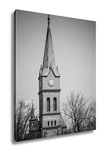 Ashley Canvas Holy Family Church In Zakopane With Cross Poland, Wall Art Home Decor, Ready to Hang, Black/White, 20x16, AG5494657 by Ashley Canvas