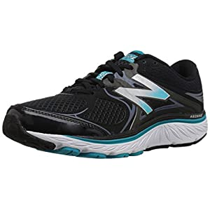 New Balance Women's 940v3 Running Shoe, Black/Blue, 10 2E US
