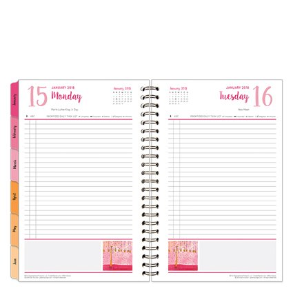 Classic Her Point of View One-Page-Per-Day 6 Month Wire-bound Planner - Jan 2018 - Jun 2018 Day Wirebound Day Planner