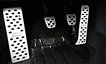 ALLYARD for Volkswagen Tiguan Accelerator Car Performance Brake Pedal Cover No Drill Non-Slip and Throttle Rubber Aluminum Anti-Skid Pedals Set at 3Pcs