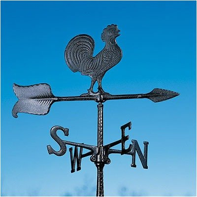 Whitehall Products Rooster Accent Weathervane, 24-Inch, Black
