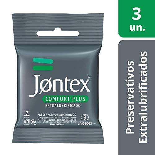 Conjunto de 3 Preservativos Lubrificados Confort Plus, Jontex, Branco