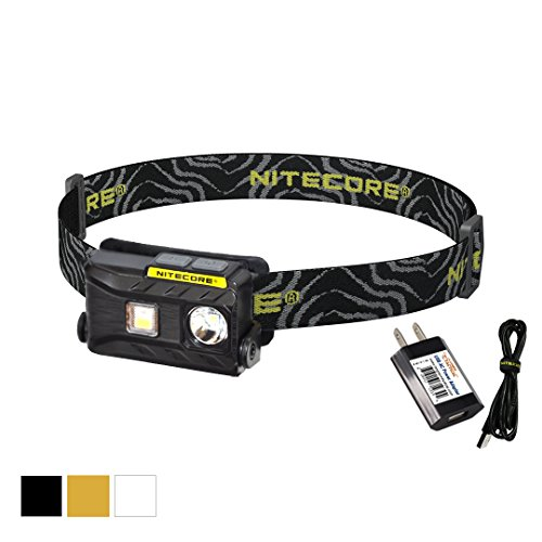 Nitecore NU25 360 Lumen Triple Output - White, Red, High CRI - 0.99 Ounce Lightweight USB Rechargeable Headlamp with LumenTac Power Adapter