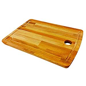 """Proppmatt Wood Cutting Board Chopping Board Carving Board with Milled Groove 15"""" X 10.5"""""""
