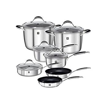 Henckels J.A. Reflection,18 10 Stainless Steel – Aluminum Core – Magnetic Stainless Steel Cookware Set 40370-007 , 12-Piece