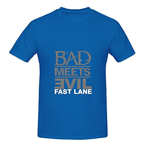 Eminem Fast Lane Jazz Mens O Neck Music Tee Blue
