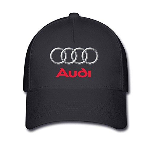 GlyndaHoa Unisex Audi Logo Baseball Caps Hat One Size Black -