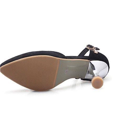 Noir Chaussures Baotou Chaussures Creux Creux Femmes nwqzpX