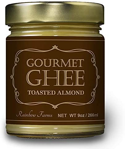 [スポンサー プロダクト]アーモンド Ghee ギーバター266g 高級フランス産 セーブル(Sevre) バター使用 グラスフェッド ギーバター バターコーヒー ギーオイル Almond Grass-Fed Ghee Butter (アーモンド, 1個) レインボーファームズ [並行輸入品]