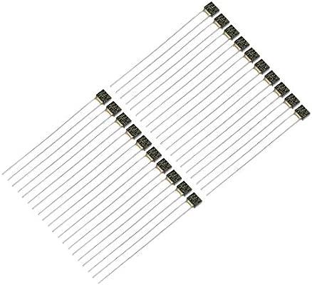Sourcingmap Fusible t/érmico 1A 130C 20pcs 250 V, control de temperatura