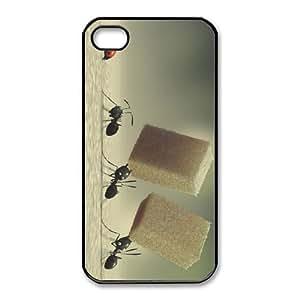 iphone4 4s phone case Black Minuscule YHN6282655
