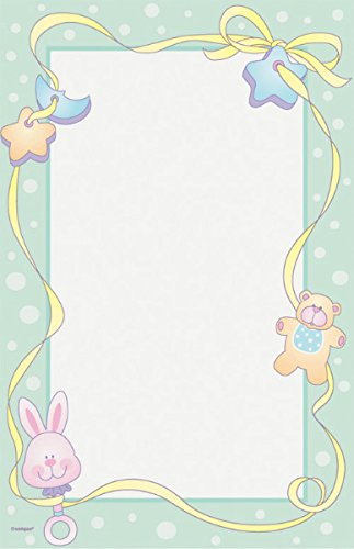 Baby Shower 'Baby Toys' Printable Papers w/ Envelopes (8ct)