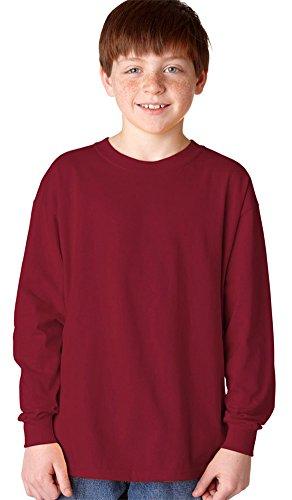 Gildan Heavy Cotton Youth Long-Sleeve T-Shirt, Garnet, X-Large ()