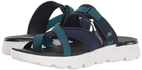 Skechers Performance Women's On The Go 400 Discover Flip Flop,Navy,7 M US by Skechers (Image #6)