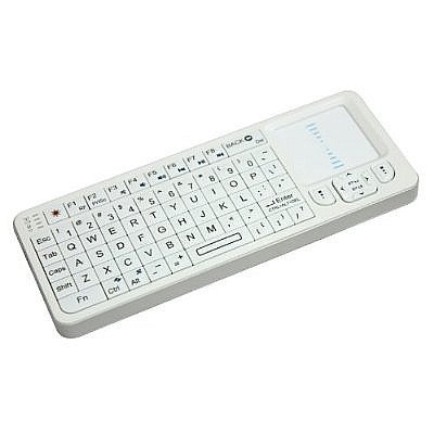 Rii Mini i6 Wireless 2.4 Ghz Keyboard with Infrared Remote, Full Screen Scrolling White (mwk06)