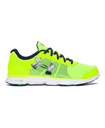 Under Armour Boys' Grade School UA Micro G Speed Swift Running Shoes 6 High-Vis Yellow