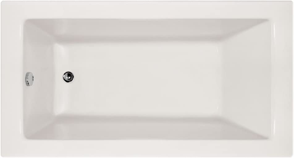 Hydro Systems SYD6032ATO-WHI-LH Sydney Rectangular Acrylic Alcove Bathtub with Left Hand Drain, White