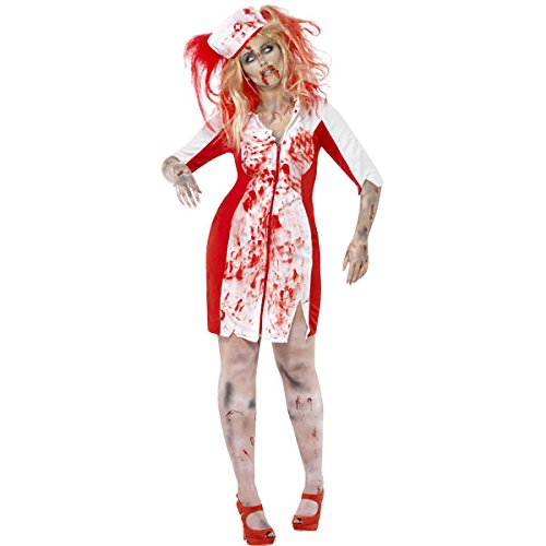 Smiffy's Women's Wo Halloween Curve Zombie Nurse Fancy Dres Party Costume Women: UK 20-22 White -
