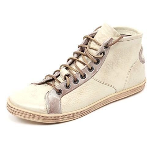 B6660 scarpa uomo PREVENTI SHOES polacchino scarpa VINTAGE shoe boot man Avorio
