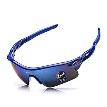 Inbike Sportbrille Polarisiert Moutainbike Radsport Brille Sonnenbrille mit Wechselgläser für Skilaufen Golf Radfahren Downhill Laufen Angeln Damen und Herren,Blau