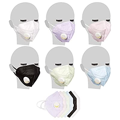 Pack of 12 Sponge Dust Masks - Respirator Mask - Anti-Dust Mask - Dust Face Mask - Anti Pollution Mask | Breathe Easy - Keeps Moisture Out, Assorted Colors