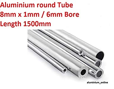 Tube rond en aluminium 8mm x 1mm x 500mm Aluminium naturel