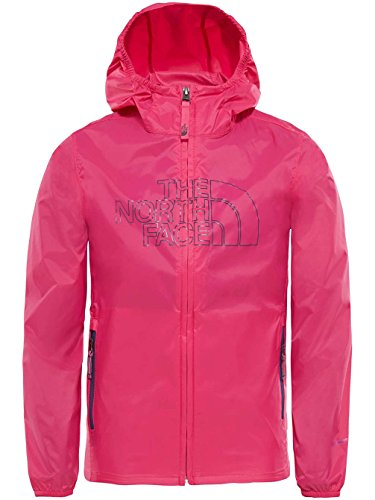 The North Face Youth Flurry Wind Hoodie - Petticoat - Pink - M (Face North Jacket Light Mountain)