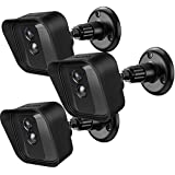 Frienda Adjustable Wall Mount Bracket 360 Degree and Protective Silicone Cover Skin Compatible with Blink XT Indoor/Outdoor Security Camera, 3 Sets (Black)