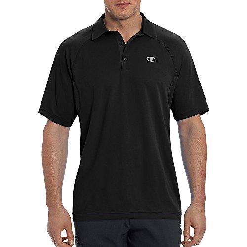 Champion Men's Catalyst Polo Shirt, Black, XL from Champion