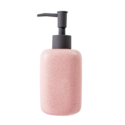 Neat Blanc Ceramic Liquid Soap & Lotion Dispenser Pump for Kitchen or Bathroom Sinks (Pink) (Pink Soap Dispenser)